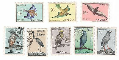 8 ANGOLA Postage Stamps USED Cancelled Scott# 333 334 335 336 337 338 339 346