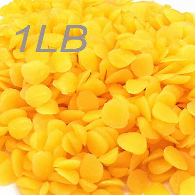 1 POUND Yellow Organic Beeswax Triple Liltered Pastilles Pellets lb pure beads