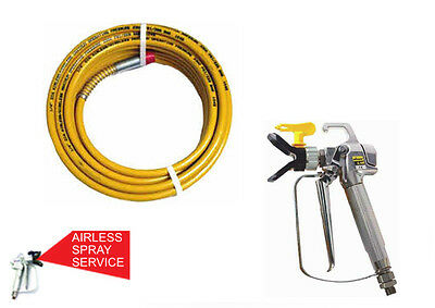 """Wagner 1/4"""" X 15M Airless Paint Hose And Wagner Ag-08 Spray Gun Combo *genuine*"""