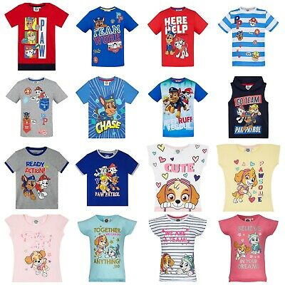 Boys Girls Kids Paw Patrol Long Short Sleeve T-Shirt Top age 2-3-4-5-6-7-8 years