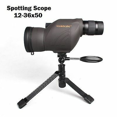 New 12-36x50T Zoom Hunting Outdoor Spotting Scope Tripod Monocular Telescope
