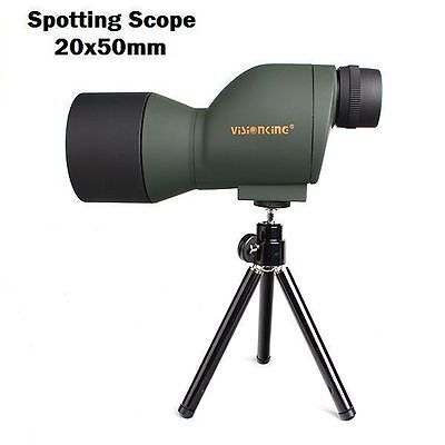 New 20x50 Zoom Hunting Outdoor Spotting Scope Tripod Monocular Telescope