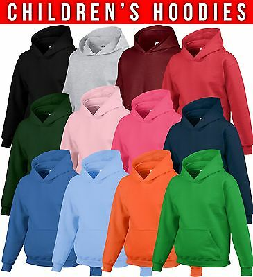 2 Pack Childrens Hoodie Boys Girls Hoody Sweatshirt Schoolwear Wholesale New