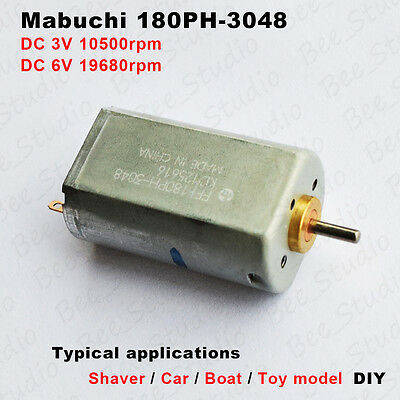 Mabuchi 180PH-3048 DC 3V-6V 19680rpm High-Speed Motor f Car Boat Electric Shaver