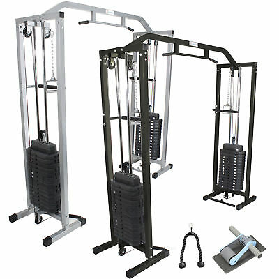 GYM MASTER Cable Crossover Exercise Machine Equipment Pull Up Multi Station