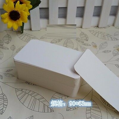 White 100 Sheets/Box Hard DIY Blank Post Greeting Card Sketch Doodle Memo Gift