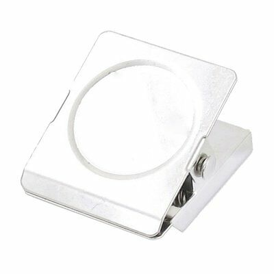 Silver Tone Spring Loaded Memo Ticket Magnetic Fridge Wall Clip BF