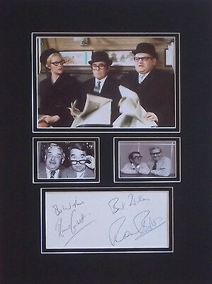 Ronnie Corbett Barker Signed The Two Ronnies Mounted Photo Display Autograph