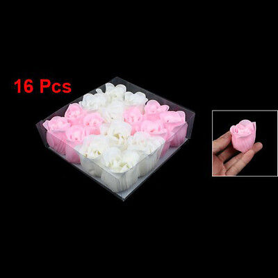 16pcs Pink Valentine Bath Confetti Fragrant Scented Rose Soap Flower Gift  BF