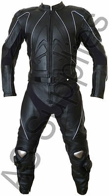 """STIG"" neXus 2-piece Leather Biker Motorcycle Suit - Reflective - All sizes"