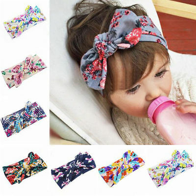 Baby-Kids-Girls-Infant-Flower-Bow-Hairband-Turban Knot Rabbit Headband Headwrap