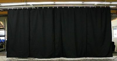 New Curtain/Stage Backdrop/Partition 15 H x 30 W, Non-FR, Custom Sizes Available