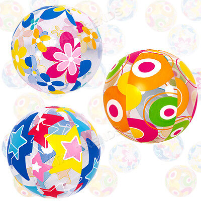 "Inflatable Beach Ball 20"" Blowup Colourful Holiday Party Swimming Garden Toy"