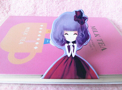 Red Bow Cartoon Princess Magnetic Page Markers Kawaii k