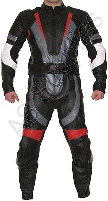"""PHOENIX"" New 2-piece Leather Biker Motorcycle Suit - All sizes!"
