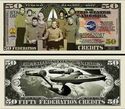STAR TREK BILLET DOLLAR US! ENTERPRISE SPOCK Série SF Leonard Nimoy Kirk Million