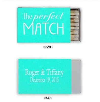 Wedding Tiffany ANY COLOR Match Box Labels Personalized Custom