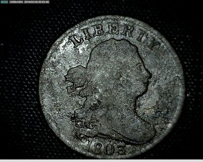1803 Draped Bust Half Cent Penny #2222