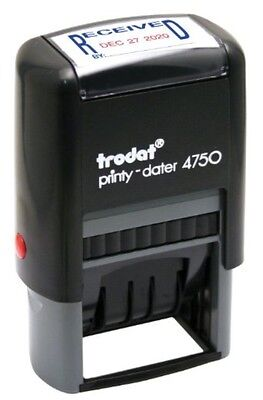 """Trodat 4750L1 """"RECEIVED"""" Self-inking Date Stamp"""