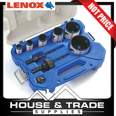 Lenox Tools 9 Piece Electricians Speed Slot Hole Saw Kit 30856C600L