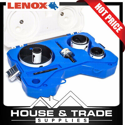 Lenox Tools 8 Piece Plumbers Speed Slot Hole Saw Kit 30876AU600P
