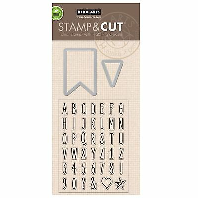 HERO ARTS Stamp & Cuts ALPHABET TABS DC136 cutting dies & clear cling stamps