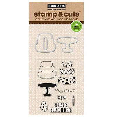 HERO ARTS - Stamp & Cuts - BIRTHDAY - cutting dies & clear cling stamps - NEW