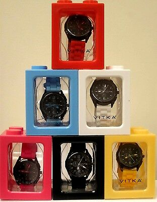 Wholesale lot of Vitka watches 6 pieces assorted Neon colors Black Sold Out