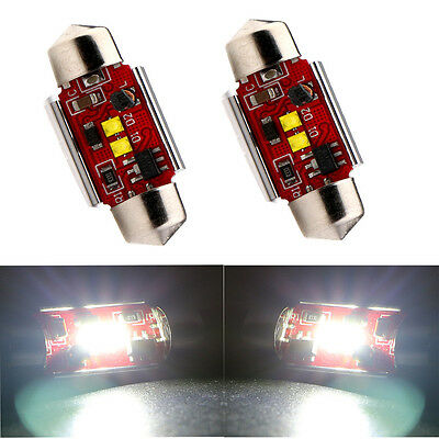 2Pcs 39mm Canbus 14W CREE No Error Free C5W 7W*2 Led Festoon Led Light bulbs