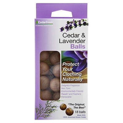 Cedar & Lavender Balls 18pc protects naturally against moths insects