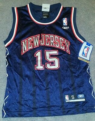 30028c3c9ee YOUTH NEW JERSEY Nets Vince Carter S (8) Embroidered Jersey Reebok ...