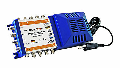 Multiswitch 5/8 with Power Supply 8 Subscribers MADE IN GERMANY Splitter 3D sky