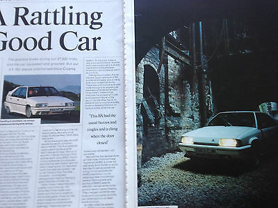CITROEN BX GTi 16V # 8 PAGE ORIGINAL 80,s VINTAGE AUTOMOTIVE ARTICLE