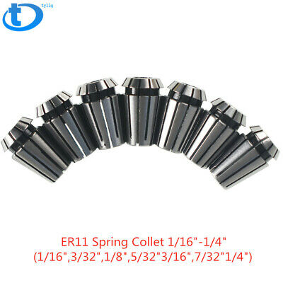 "New Super Precision7PCS 1/16""-1/4"" ER11 ER-11 Collets Set With 3/32, 3/16 ,7/32"