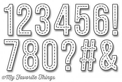 My Favorite Things - Die-namics - Stitched Numbers