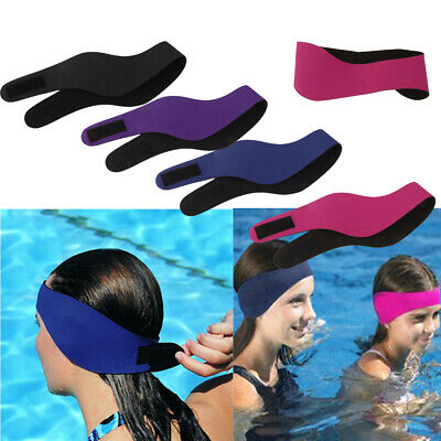Adjustable EAR BAND Swimming Headband Ear Head Protection Wrap for Kids Adult