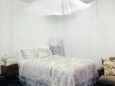 2016 Four Corner Post Bed White Canopy Mosquito Net Full Queen King Size Netting