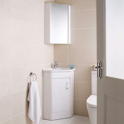 Wall Hung Diamond Shape Corner Bathroom Storage Shaving Cabinet with Mirror Door