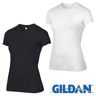 2 Pack Gildan Womens Tshirt Plain Cotton Girls T Shirt Ladies Wholesale Workwear