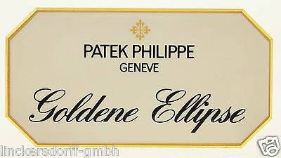"Patek Philippe ""goldene Ellipse"" - Official Agent Sign / Aufsteller / Display"