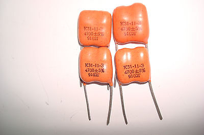 4700pF 500V silver-mica capacitors. K31-11. Lot of 40
