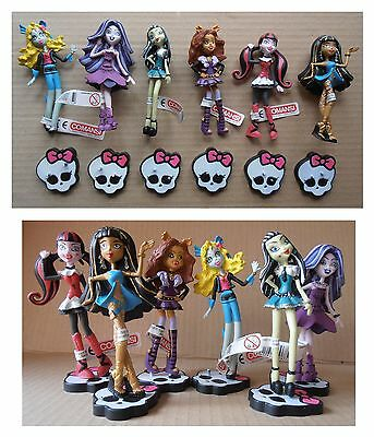 Set lotto 6 pupazzi Monster High serie completa Comansi cm 10