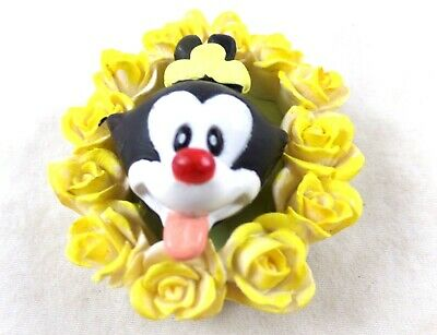 WB DOT Animaniacs Magnet Ceramic Roses Frame Warner Brothers Looney Toons Tunes