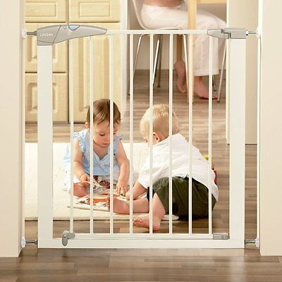 Lindam Child Stair Pet Baby Safety Gate Solid Triple Opening / Double Locking
