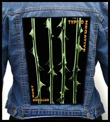 TYPE O NEGATIVE - October Rust  --- Giant Backpatch Back Patch