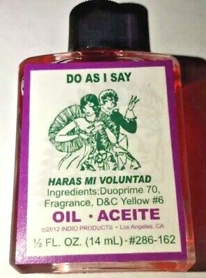 Do As I Say Oil-Hoodoo-Voodoo-Witchcraft-Command, 1/2 oz. Indio - Free Shipping