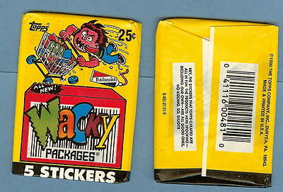 1990 Topps Wacky Packages single wax pack