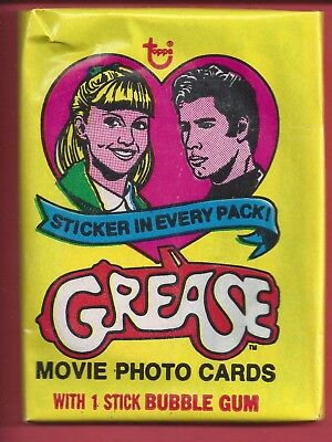 1978 Topps Grease 1st series single Wax Pack