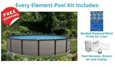 Element 15 ft Round Above Ground Pool Standard Package Salt Water Friendly