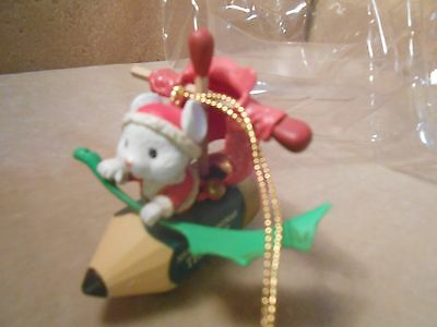 """ Mistletoe Magic "" Christmas Ornament ~  MOUSE WITH MERRY CHRISTMAS TEACHER"